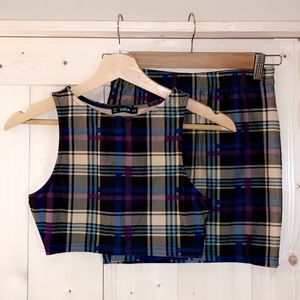 Two piece flannel outfit